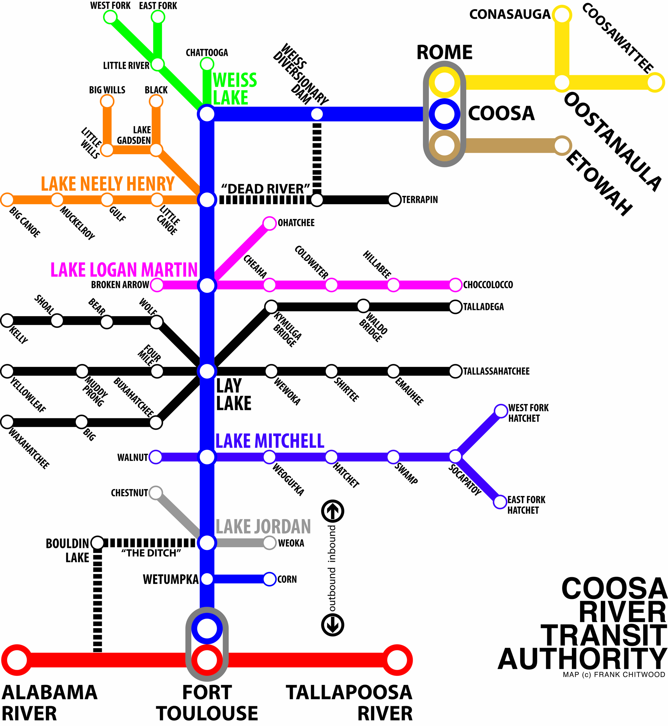 "secondly the ""coosa river transit system"" map . new coosa river maps give you a new perspective – coosa riverkeeper"