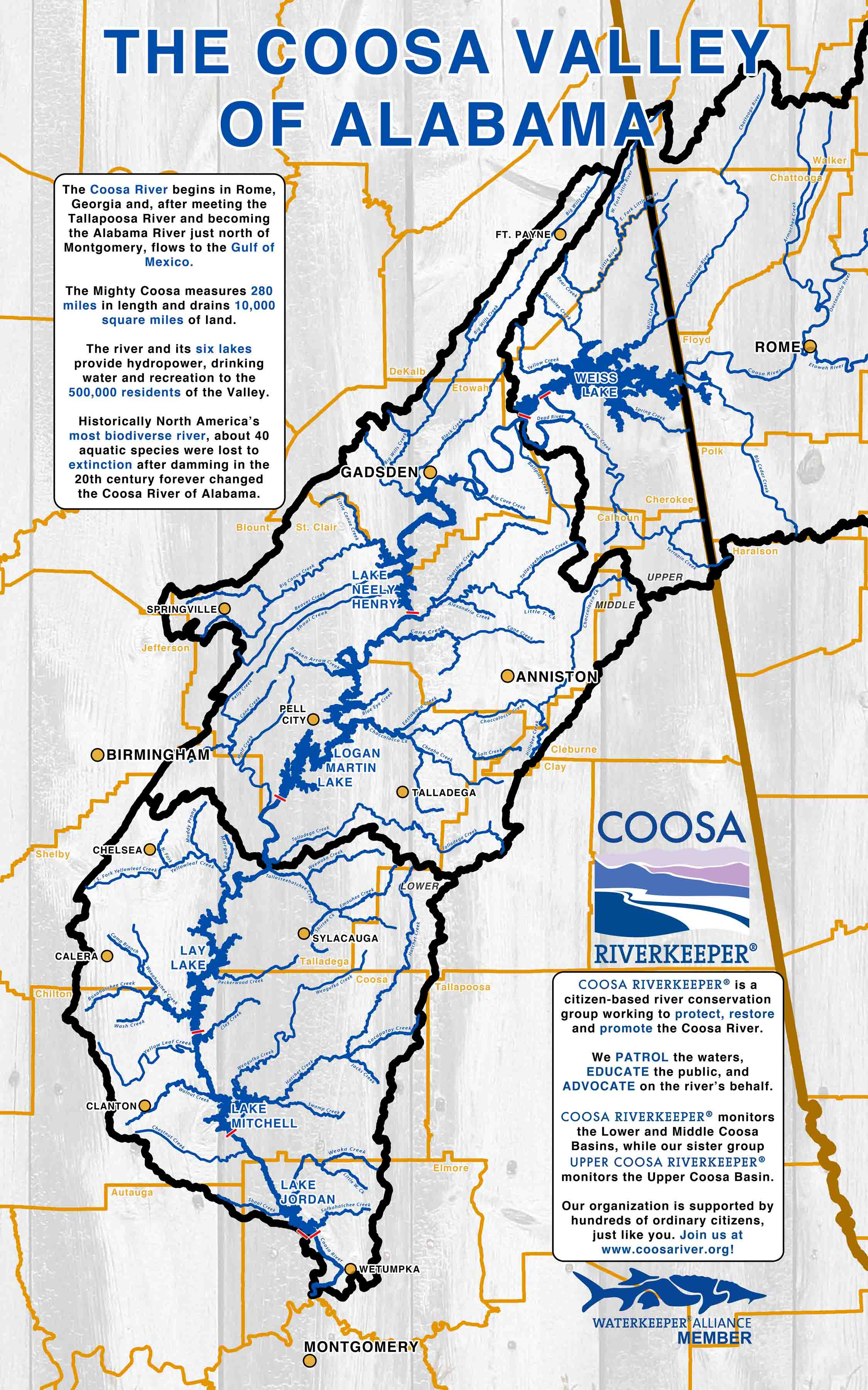 "first our new ""coosa valley of alabama"" map . new coosa river maps give you a new perspective – coosa riverkeeper"